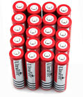 20X UltraFire 18650 3.7V 4000mAh Rechargeable Lithium Battery Red Fast Ship USA
