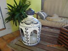 Hand Painted Vase Candle Stand, very rare from famous P. Arzobispo Toledo Spain