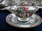 COALPORT INDIAN TREE(c1920-30) SOUP BOWL & SAUCER- SEMI SCALLOPED! HAIRLINE...