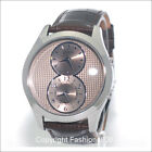 GUESS MENS MULTI FUNCTION BROWN LEATHER WATCH U0376G2