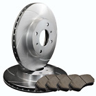 FRONT 2 SLOTTED ONLY PERFORMANCE BRAKE ROTORS +4 SEMI METALLIC PADS ATL020015