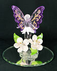 Fairy in the Flowers hand made Glass Figurine Mythical fantasy