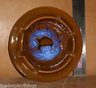 Maurice of California Pottery Ashtray #3 Brown & Blue Round 6