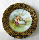 VTG MARTIN CHINA LIMOGES FRANCE NUDE HAND PAINTED W/EMBELLISHMENTS CABINET PLATE