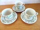Royal Doulton Tonkin 3 Cup/Saucer Sets Indian Tree Design Pattern TC-1107