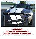 K440 2010-12 FORD MUSTANG DUAL HOOD and TOP of BUMPER LEMANS STRIPE