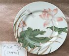 *Rare But Chipped*  Fitz and Floyd LOTUS GARDEN Salad Plate *Small Chip*
