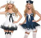 Sexy Women Adult Navy Shipmate Sailor Marine Halloween Costume Fancy Dress