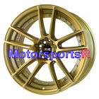 XXR 969 Gold 18 Staggered Rims Wheels Concave 5x1143 For Nissan 300zx TT Stance