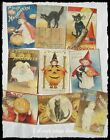 Set of 18 VICTORIAN VINTAGE LOOK HALLOWEEN LABELS Holiday Decor Primitive Grungy