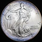 1995 American Silver Eagle 1 ozt Dollar Violet Album Toning One Ounce Toned 999