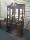 53369   AMERICAN DREW Cherry China Cabinet Breakfront Curio