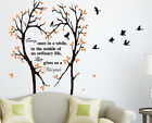 Large Tree Love Heart  Birds with Quotes Wall Art Tree Sticker HIGH QUALITY