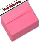 50 100 250 Envelopes for invites A7 A6  A2 White Red Hot Pink Lime Green q