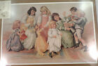 Victorian Lithograph Print The ChildrenS Party New Dancing Girls Wiht Dolls
