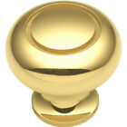 Hickory Hardware Period Brass 1-1/4'' Solid Brass Knob K19 Polished Brass NEW