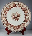 Copeland Spode Transferware Earthenware Dinner Plate - Brown Fruit Floral
