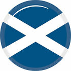 3D 5cm Scotland Flag Sticker for Car, Caravan, Bike, Helmet, Laptop etc