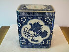 Blue and White Chinese Porcelain Potpourri Box / Cricket Box, Foo Dog Design