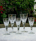 Stuart Crystal Ellesmere Fern Pattern Lot of 5 Glasses Sherry and Cordial