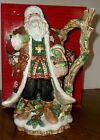 Fitz & Floyd Christmas Lodge Santa Claus w/ Owl Pitcher Mint w/Box MIB