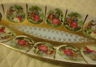 Vtg Hand-Painted Porcelain Serving Bowl Courting Serenading Romantic Couple
