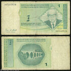 *SCARCE* Bosnia P 60 - 1 Konvertibilna Marka 1998 - WITHDRAWN DUE TO TYPO ERROR