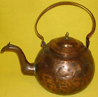 RARE c.1800 ANTIQUE COPPER GOOSENECK DOVETAILED TEA KETTLE - BEST OF BEST!!!!!!!