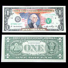 COLOR DOLLAR BILL $1 U.S. BANK NOTE COLLECTIBLE MINT IN BILL SLIP BEST PRICE!!