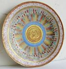 Fine Old Japanese Imari Kutani 1000 Rainbow Buddha Faces Porcelain Plate SIGNED