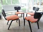 RARE SET (4) THONET BENT WOOD CHAIRS~ORANGE~NEW YORK~MID CENTURY MODERN~EAMES