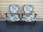 52299  PAIR VINTAGE HICKORY CHAIR CARVED BERGERE CHAIRS