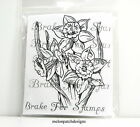 EMBOSSING ARTS March Daffodils Botanical Flower Month Cling Mount Rubber Stamp