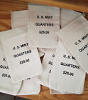 10 US MINT CANVAS BAGS STATE QUARTER COIN BAGS EMPTY  NO COINS $25 SIZE