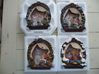 New  3D Kitty Cat Complete set of 4 Seasonal  Bradford Exchange collector plates