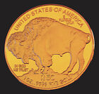 1 Oz Gold 24K .9999 Fine American Buffalo Coin 2011 Bullion (PLATED)