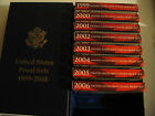 1999 - 2008 US Mint SILVER Proof Sets with COAs