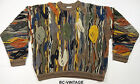 VINTAGE COOGI AUSTRALIA 3D ABSTRACT CABLE KNIT SWEATER SWAG BIGGIE TISA 23930
