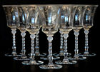 10 Vintage HEISEY GLASS Etched Cut MONTE CRISTO 3411 WATER GOBLET Stem Glasses