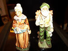set of old man and old lady porcelain sample 4-f3559 figurines