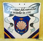 Old Porcelain Nautical Wall Tile Sea Shell Latin Inscription Made in Italy