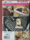 Simplicity Pattern 2984 Travel Accessories for Pets dog car seat toys seat cover