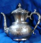 Silverplate Ornate Floral America  Quadruple Silverplate co. Coffee Pot -Vintage