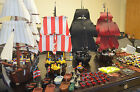 Lego Imperial Flagship (10210) + 3 pirate ships + minifigures+ cannons etc