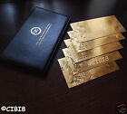 PURE 24K GOLD PLATED NELSON MANDELA 5X BANKNOTE SET + CASE + COA BILL BANK NOTE