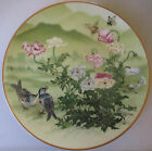 VINTAGE FRANKLIN PORCELAIN MINT JAPAN 1981 BIRD PLATE - BIRDS/FLOWERS/BUTTERFLY