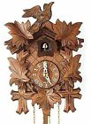 Authentic German Black Forest Cuckoo Wall Clock Hand Carved Antique Style NEW