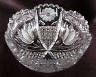 Antique ABP Brilliant Cut Glass Bowl Tulip Daisy and Harvard Cane Pattern