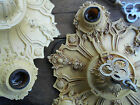Antique Ornate Heavy Metal Cast Iron Ceiling Fixture Victorian Old StEaM PuNk !!