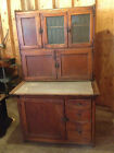 Oak 1908 Hoosier Kitchen Cabinet with Flour Bin